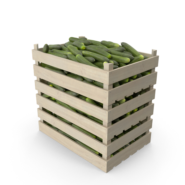 Crates of Cucumbers PNG & PSD Images