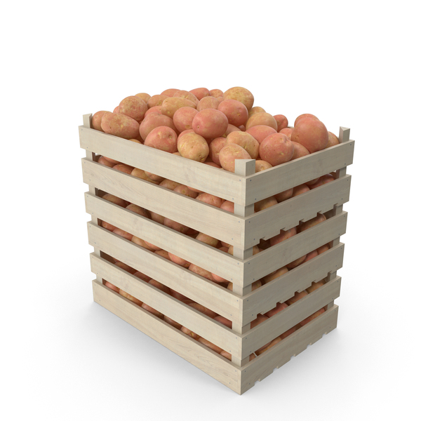 Crates of Red Potatoes PNG & PSD Images
