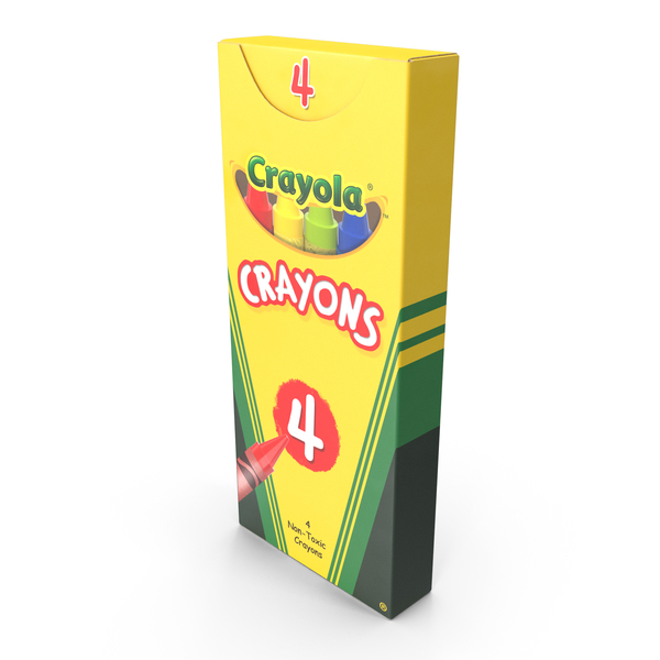 Crayola 4 Count Colored Crayons PNG & PSD Images