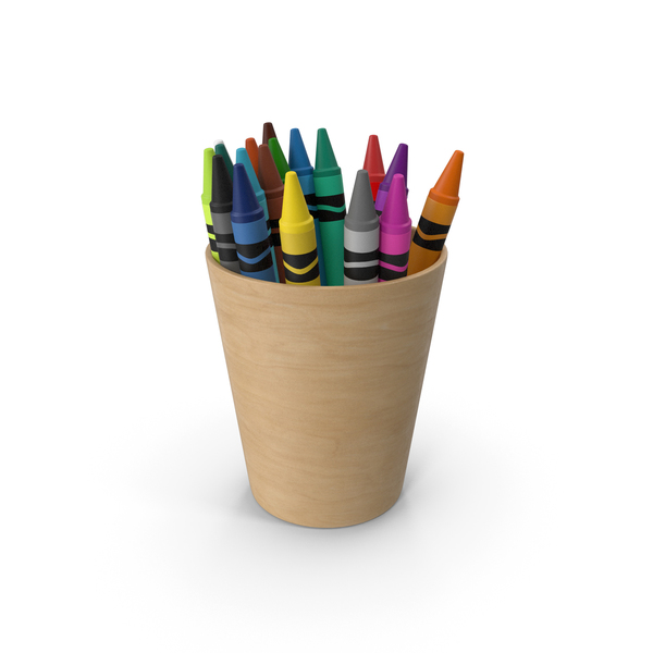 Crayons In Cup PNG & PSD Images