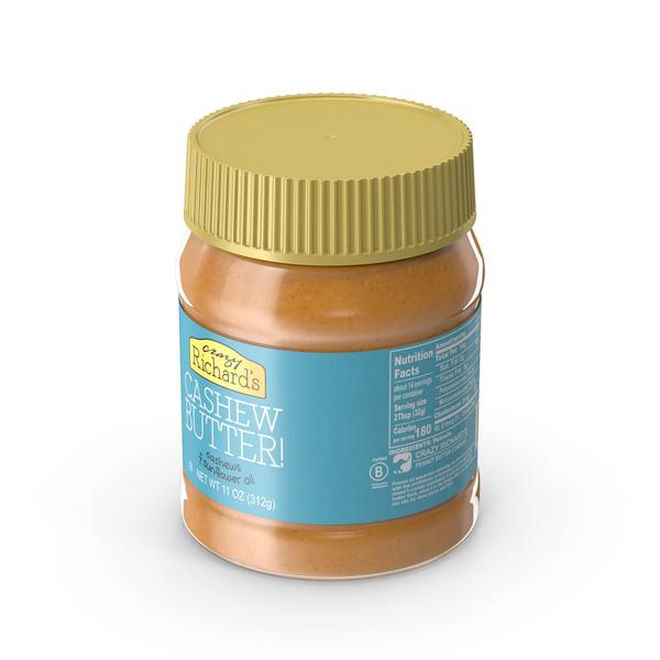 Peanut: Crazy Richards Natural Cashew Butter PNG & PSD Images