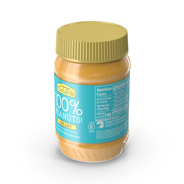 Crazy Richards Natural Creamy Peanut Butter PNG & PSD Images