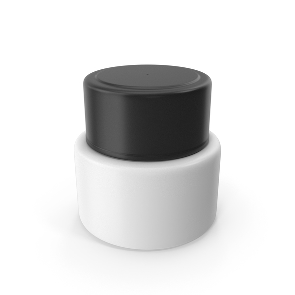 Lotion: Cream Bottle Black White PNG & PSD Images