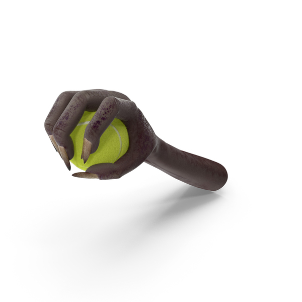 Creature Hand Grabbing a Tennis Ball PNG & PSD Images
