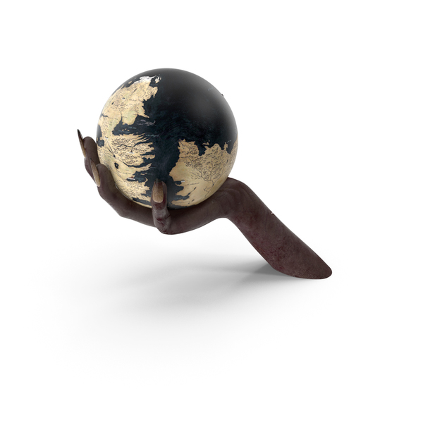 Creature Hand Holding a Fantasy World Globe PNG & PSD Images