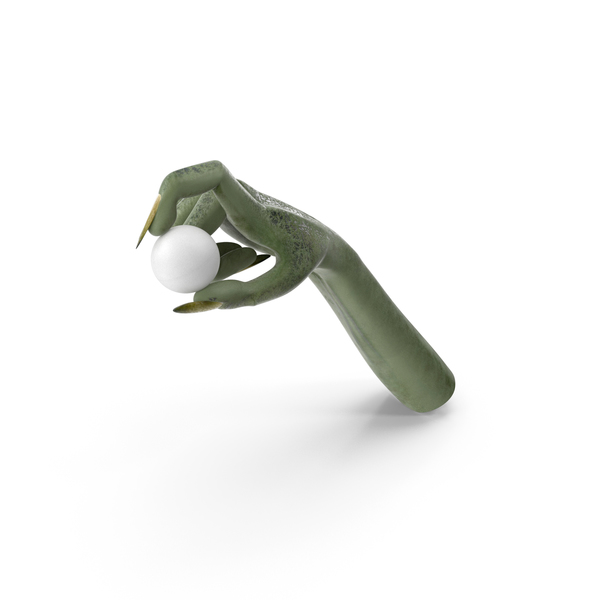 Monster: Creature Hand Holding a Ping Pong Ball PNG & PSD Images