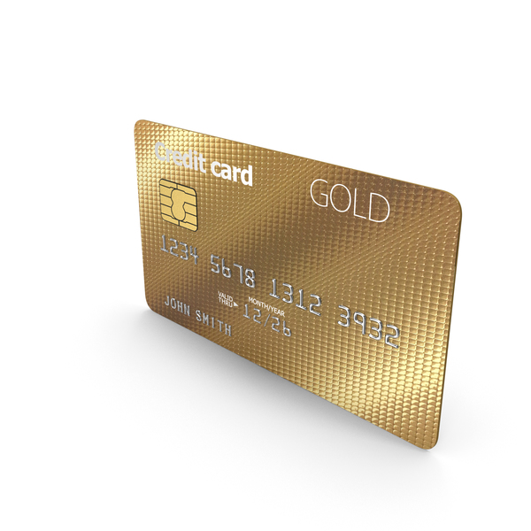 Credit card Gold PNG & PSD Images