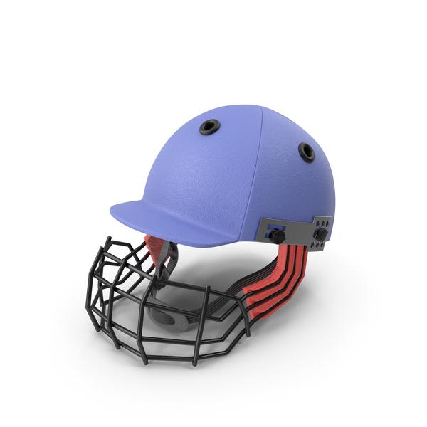 Cricket Helmet Blue PNG & PSD Images