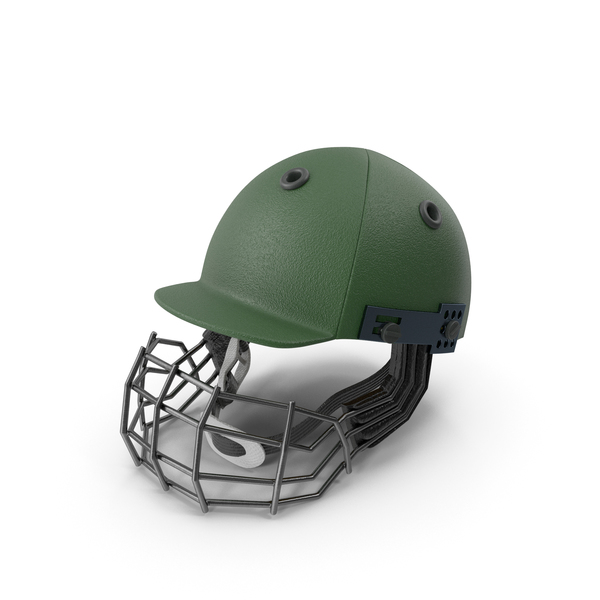 Cricket Helmet Green PNG & PSD Images