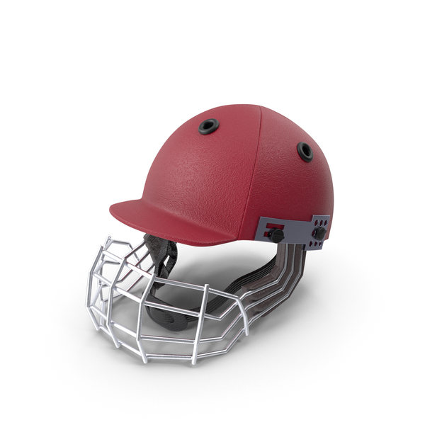 Cricket Helmet Red PNG & PSD Images