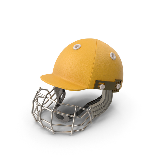 Cricket Helmet Yellow PNG & PSD Images