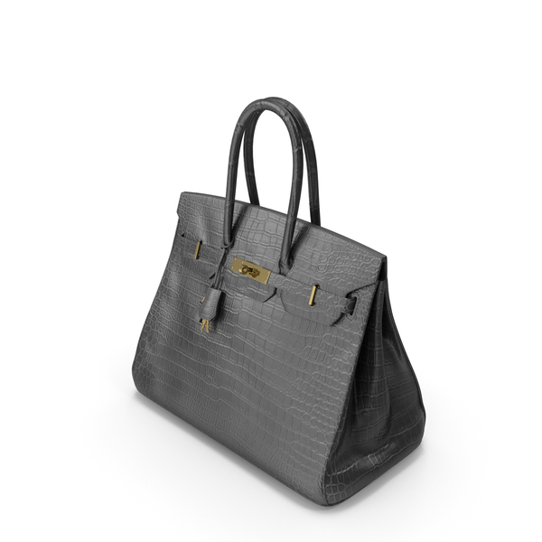 Crocodile Handbag Black PNG & PSD Images