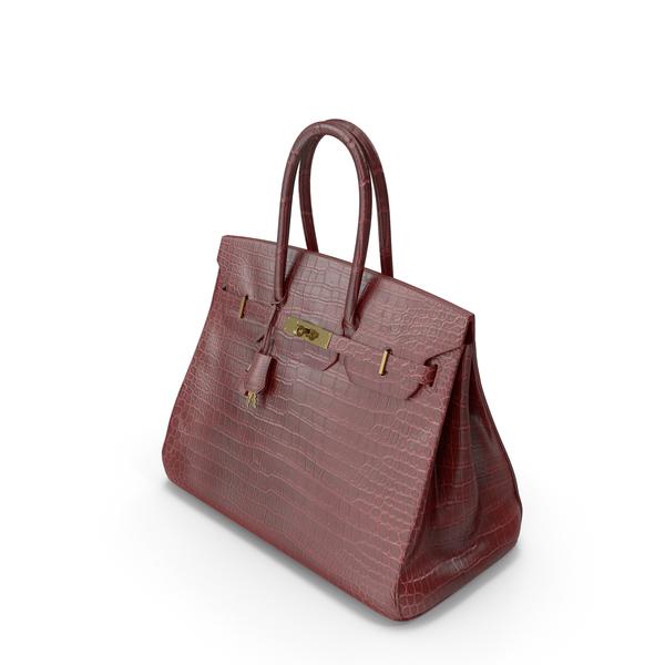 Crocodile Handbag Brown PNG & PSD Images