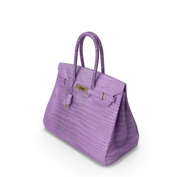 Crocodile Handbag Purple PNG & PSD Images