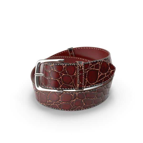 Crocodile Skin Belt For Men Red PNG & PSD Images