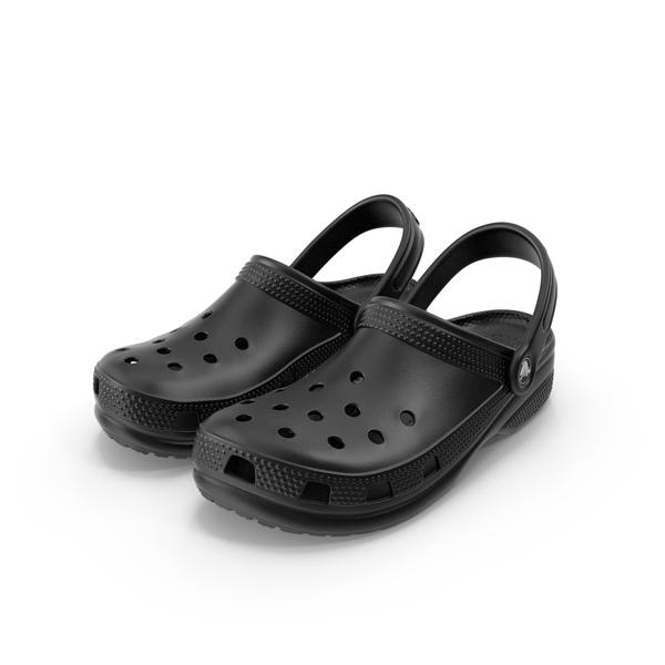 Sandals: Crocs Coast Clog Black PNG & PSD Images