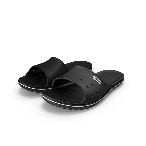 Crocs Crocband Slide Black PNG & PSD Images