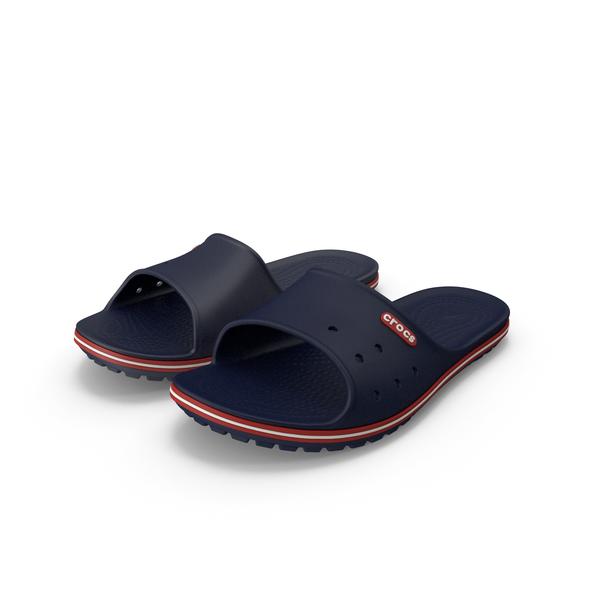 Slipper: Crocs Crocband Slide Blue PNG & PSD Images