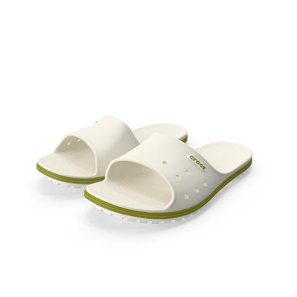 Crocs Crocband Slide White PNG & PSD Images
