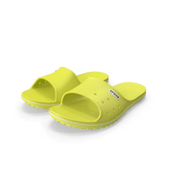 Crocs Crocband Slide Yellow PNG & PSD Images