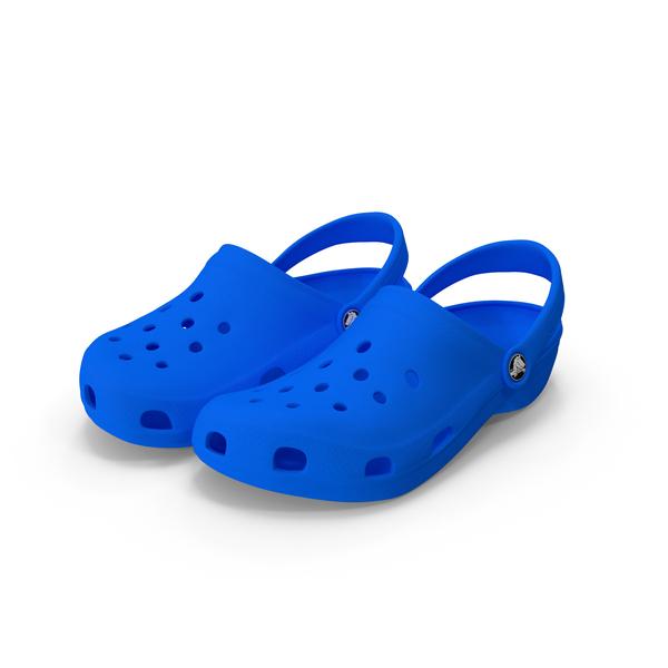 Crocs Shoes, Sandals, & Clogs in Blue PNG & PSD Images