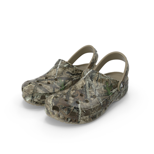 Sandals: Crocs Youth Classic Realtree Camo Clog PNG & PSD Images