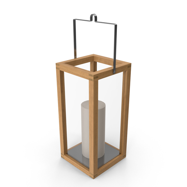 Crosby Teak Wood Lantern PNG & PSD Images