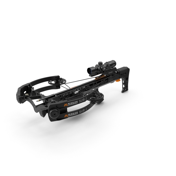 Crossbow Mission Sub-1 XR Black with Arrow PNG & PSD Images