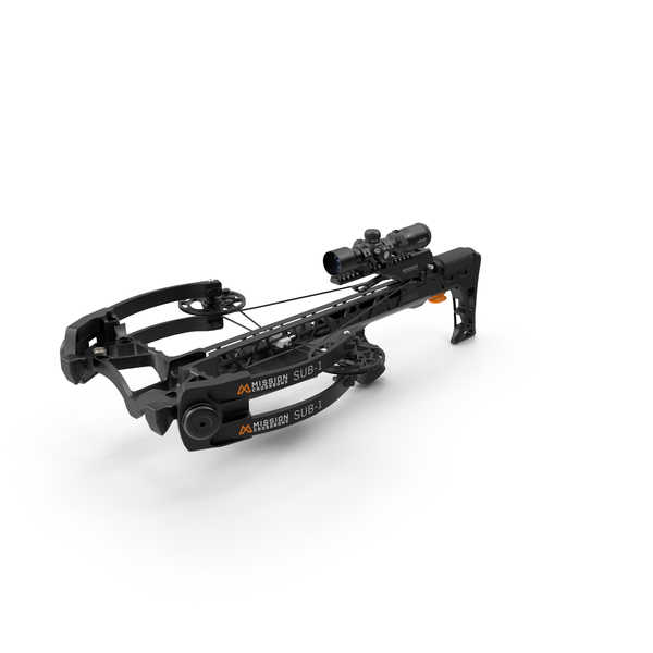 Crossbow Mission Sub-1 XR with Scope PNG & PSD Images