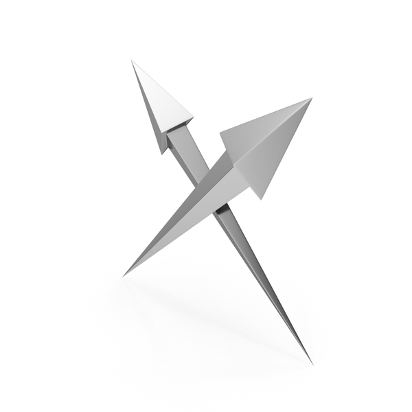 Directional Arrow: Crossed Steel Arrows PNG & PSD Images