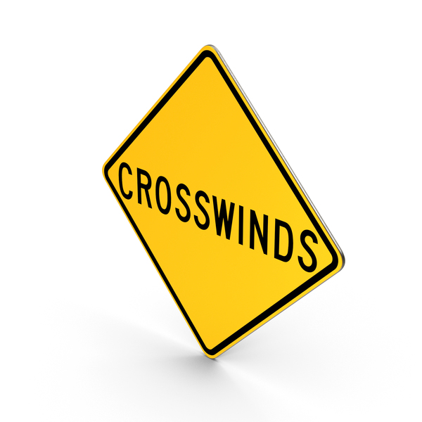 Crosswinds New York State Road Sign PNG & PSD Images