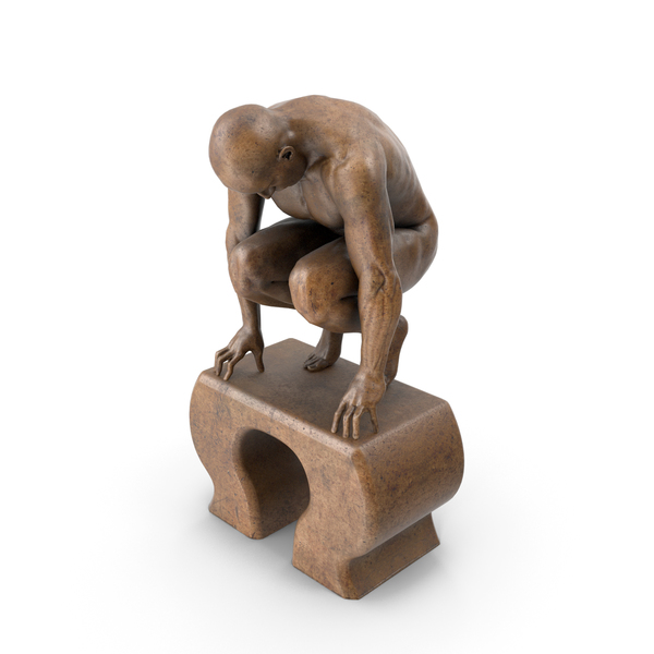 Statue: Crouching Man PNG & PSD Images