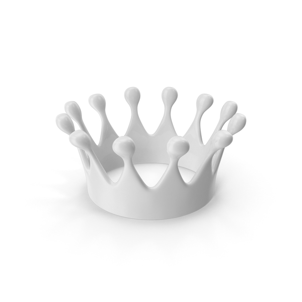 Liquid: Crown White PNG & PSD Images