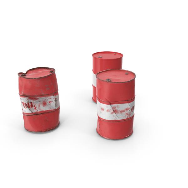 Drum: Crude Oil Barrels Set PNG & PSD Images
