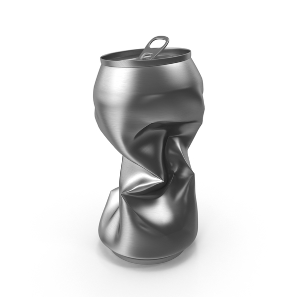 Aluminum: Crushed Soda Can PNG & PSD Images