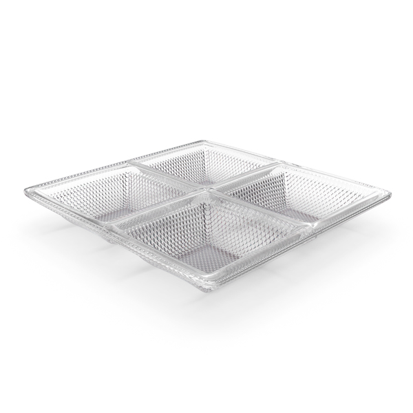 Crystal 4 Compartment Bowl PNG & PSD Images