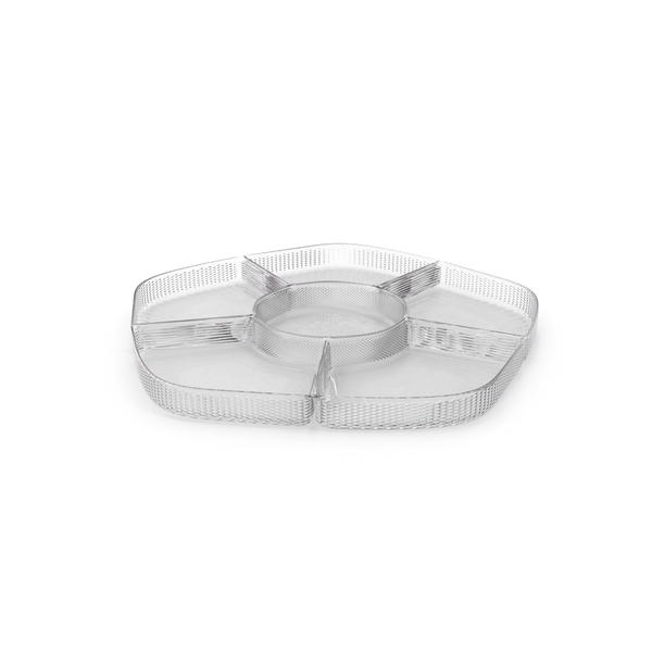 Crystal 6 Compartment Bowl PNG & PSD Images