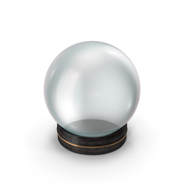 Crystal Ball in a Fancy Small Wooden Holder PNG & PSD Images