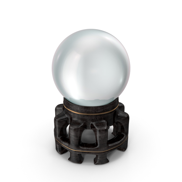 Crystal Ball in a Fancy Wooden Holder PNG & PSD Images