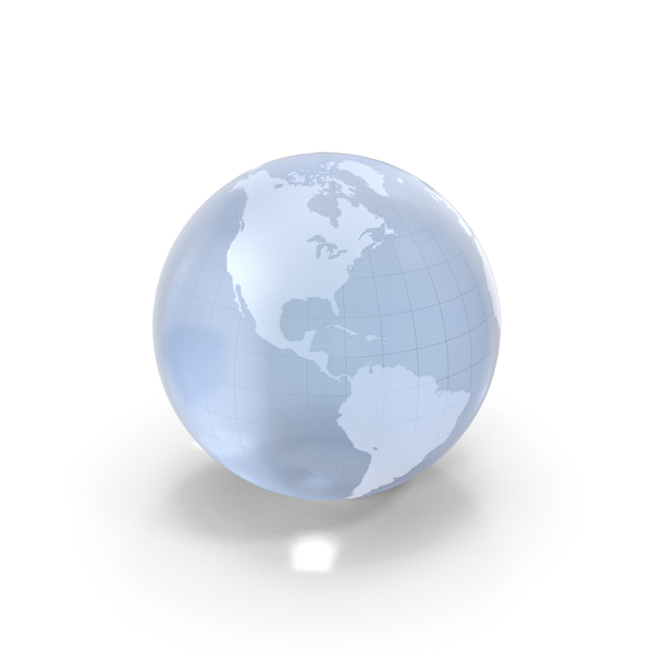 Globe Shape: Crystal Earth PNG & PSD Images
