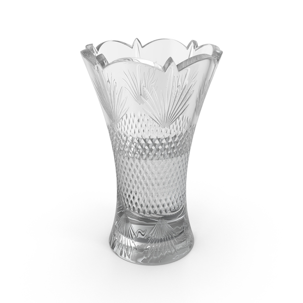 Crystal Vase with Water Object