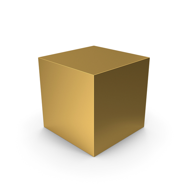 Cube Gold PNG & PSD Images
