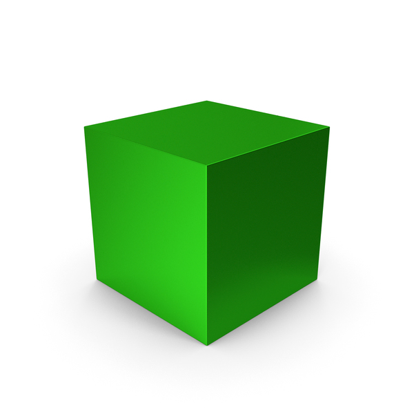 Cube Green Metallic PNG & PSD Images