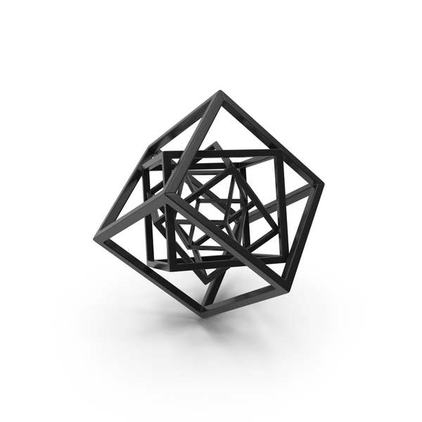 Cube in Cube Black PNG & PSD Images