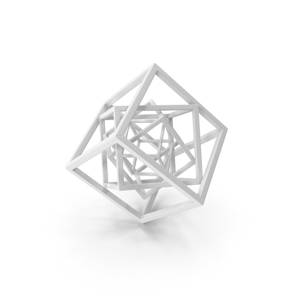 Cube in Cube White PNG & PSD Images