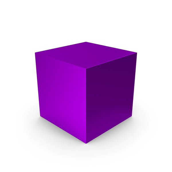 Cube Purple Metallic PNG & PSD Images