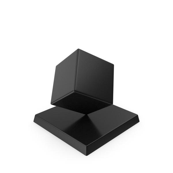 Cube Trophy Black PNG & PSD Images