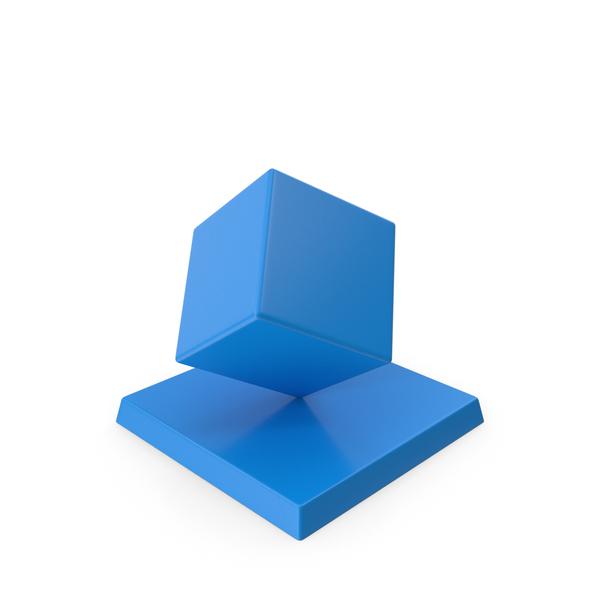 Cube Trophy Blue PNG & PSD Images