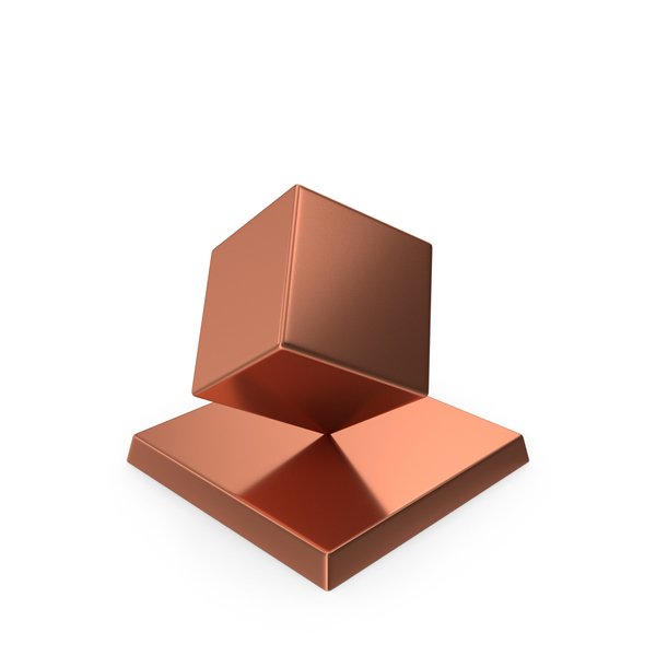 Cube Trophy Bronze PNG & PSD Images