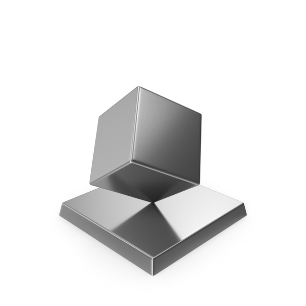 Cube Trophy Silver PNG & PSD Images